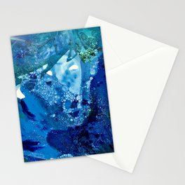 Environmental Blue Leaves, Tiny World Collection Stationery Cards