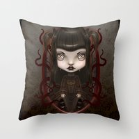 soul Throw Pillows featuring Soul by Liransz