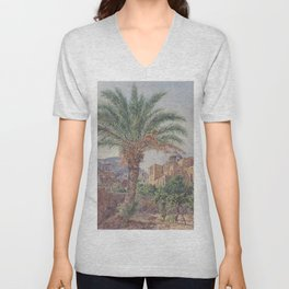 The Cathedral Of Capri 1835 by Rudolf von Alt | Reproduction Unisex V-Neck