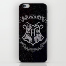 Cosmic Hogwarts Crest HP iPhone Skin