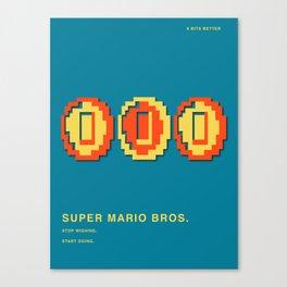 8 BITS BETTER - SUPER MARIO BROS. Canvas Print