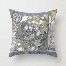 The Eagle and the Owl Throw Pillow