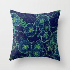 Blue Fantasy Throw Pillow