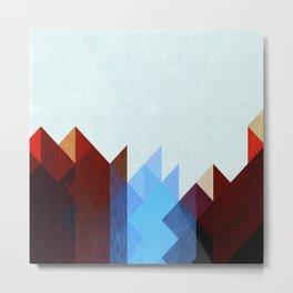 Red Peaks Metal Print