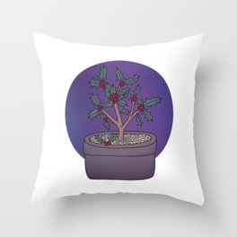 Holly Guardians Throw Pillow