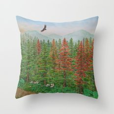 A Day of Forest(8). (coniferous forest) Throw Pillow