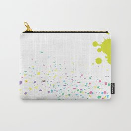 Background with colorful splashes Carry-All Pouch