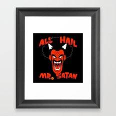 All Hail Mr. Satan Framed Art Print