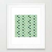 sheep Framed Art Prints featuring Sheep by sheena hisiro