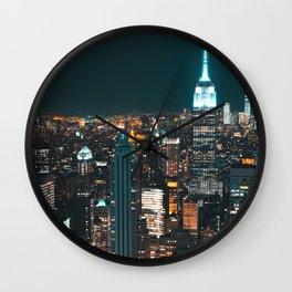 New York...The City of Dreams Wall Clock