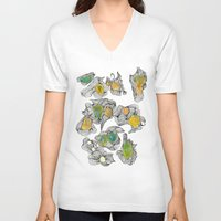 alien V-neck T-shirts featuring Alien. by ADIDA FALLEN ANGEL