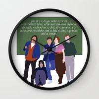 breakfast club Wall Clocks featuring The Breakfast Club by Christina