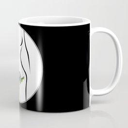 The woman and flower Coffee Mug