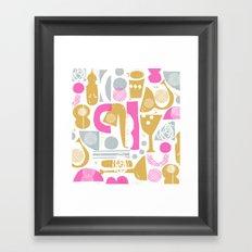 funky jazz Framed Art Print
