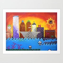 8 Bit Milwaukee Art Print