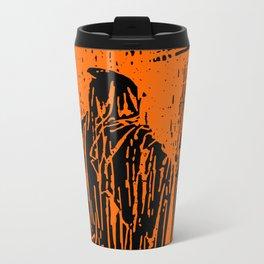 The Ghost at the Door Metal Travel Mug