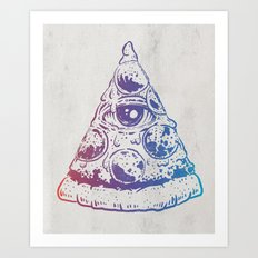 All Seeing Pizza Art Print