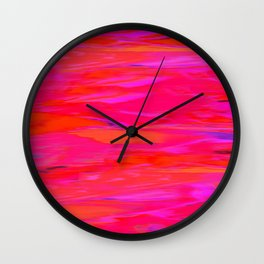 Stripes in Red Wall Clock