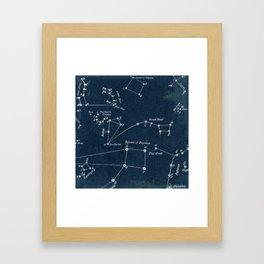 Navy Constellation Framed Art Print