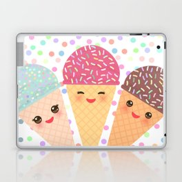 Hello Summer Kawaii Ice cream waffle cone Laptop & iPad Skin