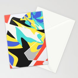 Abstract design pattern multicolored Stationery Cards
