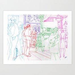Book store 3 Art Print