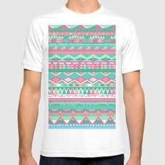 Summer doodle #2 MEDIUM White Mens Fitted Tee