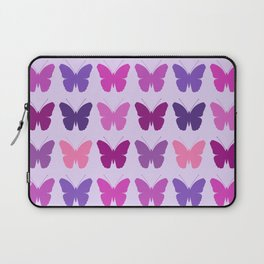 Butterly Silhouettes 3x3 Pinks Purples Mauves Laptop Sleeve