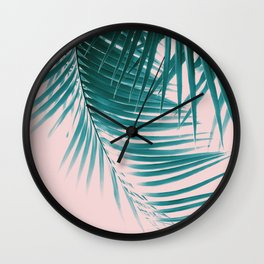 Palm Leaves Summer Vibes #1 #tropical #decor #art #society6 Wall Clock