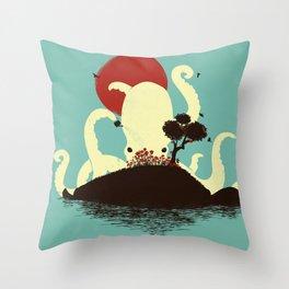 Octopus's Garden Throw Pillow