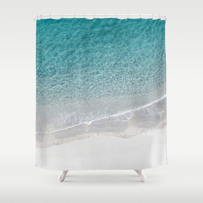 Drone Beach Shower Curtain