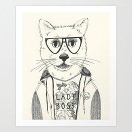 Lady Boss Art Print