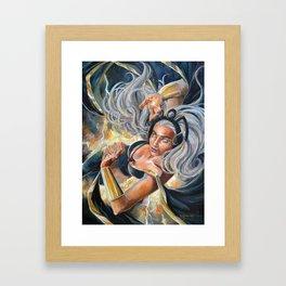 The Storm Begins Framed Art Print