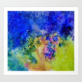 the conglomerate of color Art Print