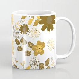 Big Yellow and Brown Flowers Coffee Mug