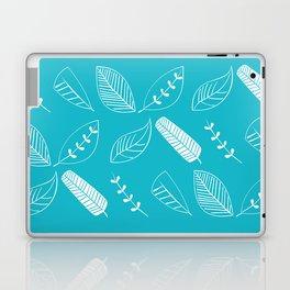 Leaves on turquoise II Laptop & iPad Skin