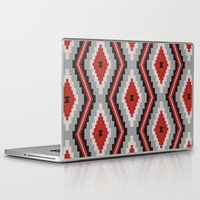 navajo Laptop & iPad Skins featuring Navajo red by spinL