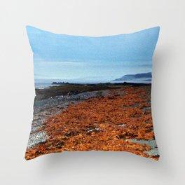 Seaweed Beach Throw Pillow