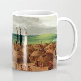 George Catlin Bird's-eye View of the Mandan Village, 1800 Miles above St. Louis Coffee Mug