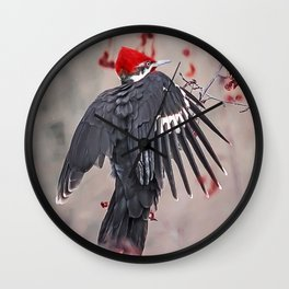 Pileated Woodpecker Wall Clock