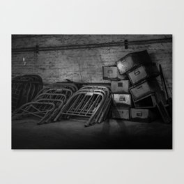 Growing Old - Traces of Interior Life in a Forgotten Place Canvas Print