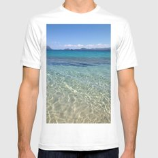 Sardinia White MEDIUM Mens Fitted Tee