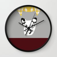 lydia martin Wall Clocks featuring Lydia Martin by smartypants