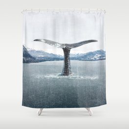 Whale In A French Lake Shower Curtain