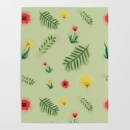 Countryside ferns Poster