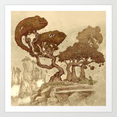 Autumn Chameleons  Art Print