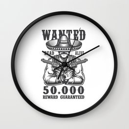 Wanted Dead or Alive Wall Clock