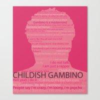 childish gambino Canvas Prints featuring Childish Gambino by Lucas Bergertime