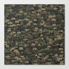 Invaders camouflage Canvas Print
