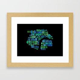 Alphabet Cities 001 - London Framed Art Print